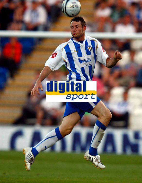 Football Carling Cup First Round Colchester United v Leyton Orient Lee Beevers of Colchester United at Weston Homes Community Stadium, Colchester 11/08/2009 Credit: Colorsport / Kieran Galvin