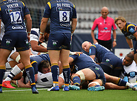 Rugby Union - 2019 / 2020 Gallagher Premiership - Worcester Warriors vs Bristol Bears<br /> <br /> Bristol Bears' Ed Holmes scores his sides first try, at Sixways.<br /> <br /> COLORSPORT/ASHLEY WESTERN