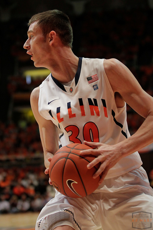 05 March 2011: Illinois Fighting Illini forward Bill Cole (30) as the Indiana Hoosiers played the Illinois Illini in a college basketball game in Champaign, Ill.