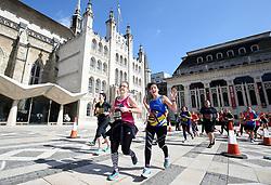 during the 2019 London Landmarks Half Marathon.