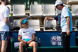 September 28, 2018 - Elina Svitolina of the Ukraine listens to coach Nick Saviano at the 2018 China Open WTA Premier Mandatory tennis tournament (Credit Image: © AFP7 via ZUMA Wire)