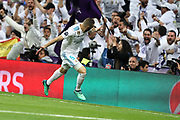 Goal Karim Benzema (Real Madrid) during the UEFA Champions League, semi final, 2nd leg football match between Real Madrid and Bayern Munich on May 1, 2018 at Santiago Bernabeu stadium in Madrid, Spain - Photo Laurent Lairys / ProSportsImages / DPPI