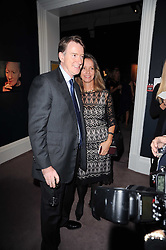 LORD MANDELSON and SABRINA GUINNESS at the Krug Mindshare auction held at Sotheby's, New Bond Street, London on 1st November 2010.