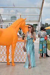 KELLY BADDELEY at the Veuve Clicquot Gold Cup Final at Cowdray Park Polo Club, Midhurst, West Sussex on 20th July 2014.