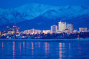 Anchorage on a cold winter evening.