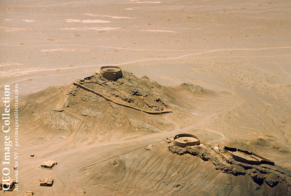 Aerial view of the city of ancient city of Bam.