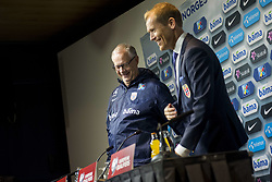 September 1, 2017 - Oslo, NORWAY - 170901 Lars LagerbÅck, head coach of Norway, and Svein Graff, Communications director of the Norwegian Football Association (NFF) during a press conferance after the FIFA World Cup Qualifier match between Norway and Azerbaijan on September 1, 2017 in Oslo..Photo: Fredrik Varfjell / BILDBYRN / kod FV / 150000 (Credit Image: © Fredrik Varfjell/Bildbyran via ZUMA Wire)