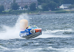 The P1 Scottish Grand Prix of the Sea is the second of four events across the UK for the P1 Powerboat Championship taking place at Greenock.<br /> <br /> Pictured: Spirit of Inverclyde Team