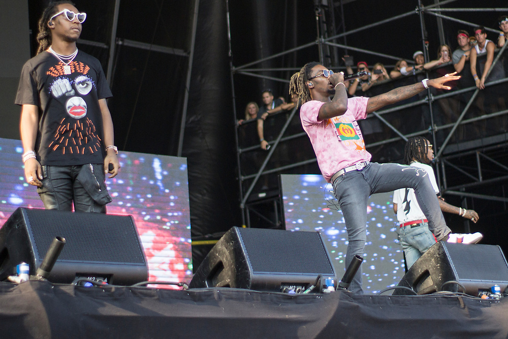 Migos perform at Lollapalooza in Chicago, IL on August 3, 2017.