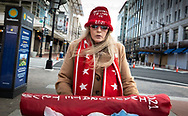 Woman in Washington D.C. who said she was headed to a Trump inauguration, which did not take place, on January 20, 2021. Credit: Julie Dermansky © 2021.