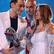 TMF awards 2004, DJ Paul van Dijk, Mental Theo en Sylvie Meijs, Theo Nabuurs