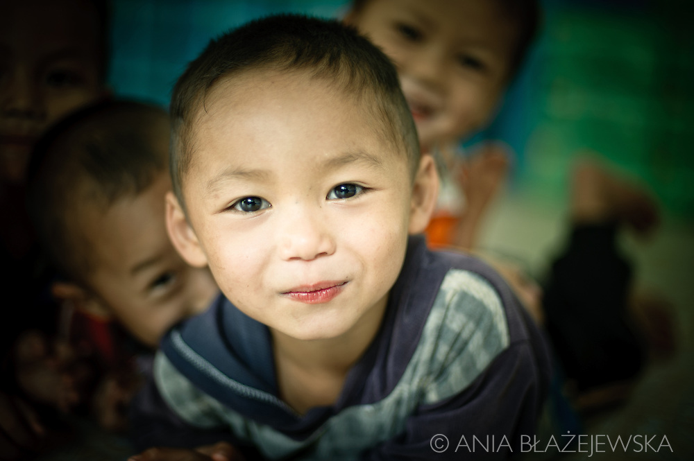 Thailand, Mae Sariang. Little boy from a school situated among Karen people villages.