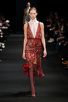 Lexi Boling (FORD) walks the runway wearing Altuzarra Fall 2015 during Mercedes-Benz Fashion Week in New York on February 14, 2015