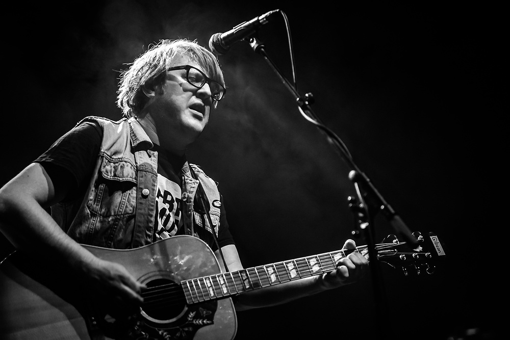 German singer-songwriter Grillmaster Flash supporting Thees Uhlmann at Schlachthof Wiesbaden