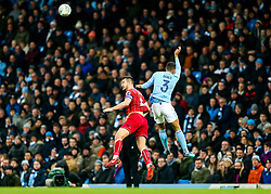 Bailey Wright of Bristol City and Danilo of Manchester City in action - Rogan/JMP - 09/01/2018 - Etihad Stadium - Manchester, England - Manchester City v Bristol City - Carabao Cup Semi Final First Leg.