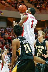 10 February 2005<br /> <br /> Lorenzo Gordon<br /> <br /> Illinois State Redbirds V Wichita State Shockers Mens NCAA Missouri Valley Conference Basketball. Redbird Arena, Illinois State University, Normal IL