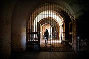 Ramparts inside Fort Pulaski National Monument Savannah, GA.