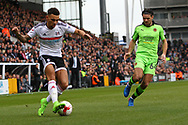 Ryan Fredericks of Fulham sends in a cross during the Sky Bet Championship match at Craven Cottage, London<br /> Picture by Richard Brooks/Focus Images Ltd 07947656233<br /> 18/03/2017