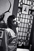Ian Dury at home in Hammersmith London  1979