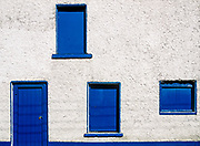 Blue door and windows, Dingle, County Kerry, Ireland