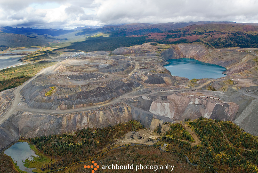 Aerial view of the Faro Mine