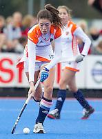 ARNHEM - NAOMI van AS tijdens de oefenwedstrijd tegen Belgie op het veld van Upward. COPYRIGHT KOEN SUYK