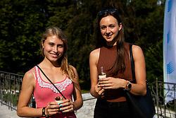 Marusa Mismas Zrimsek and Marusa Cernjul during Opening ceremony of photo exhibition at 100 years Anniversary of Slovenian Athletic Federation, on September 17, 2020 in Tivoli park, Jakopicevo sprehajalisce, Ljubljana, Slovenia. Photo by Vid Ponikvar / Sportida