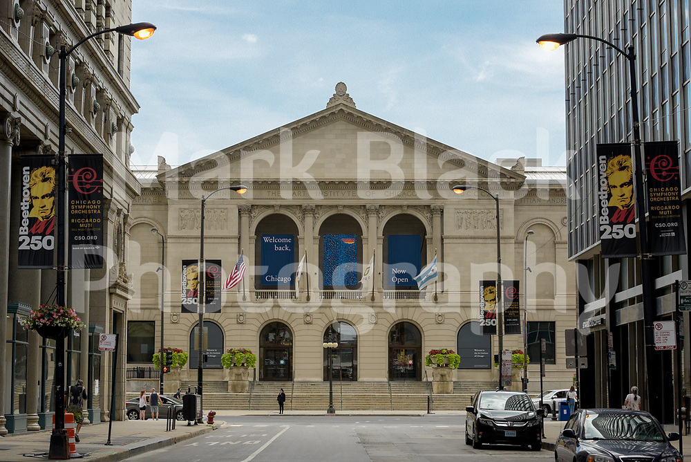 The Art Institute of Chicago along Michigan Avenue in Chicago, Illinois.<br /> Photo by Mark Black
