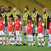 Fenerbahce's players during the UEFA Champions League Play-Offs First leg soccer match Fenerbahce between Arsenal at Sukru Saracaoglu stadium in Istanbul Turkey on Wednesday 21 August 2013. Photo by Aykut AKICI/TURKPIX