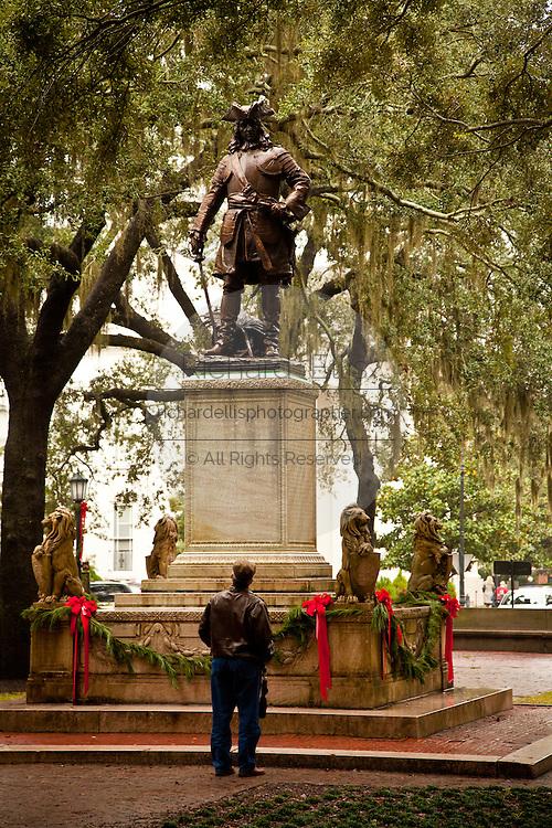 Statue of Gen. James Oglethorpe in Oglethorpe Square Savannah, GA
