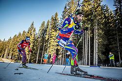 Anton Shipulin (RUS) and Martin Fourcade (FRA) competes during Men 12,5 km Pursuit at day 3 of IBU Biathlon World Cup 2015/16 Pokljuka, on December 19, 2015 in Rudno polje, Pokljuka, Slovenia. Photo by Vid Ponikvar / Sportida