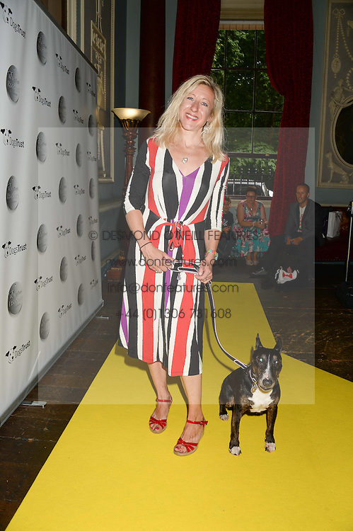 ANNA WEBB and her dog Molly at the 6th Dogs Trust Honours held at Home House, Portman Square, London on 23rd July 2013.