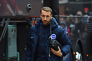 Glenn Murray (17) of Brighton and Hove Albion arrives at the Vitality Stadium before the The FA Cup 3rd round match between Bournemouth and Brighton and Hove Albion at the Vitality Stadium, Bournemouth, England on 5 January 2019.
