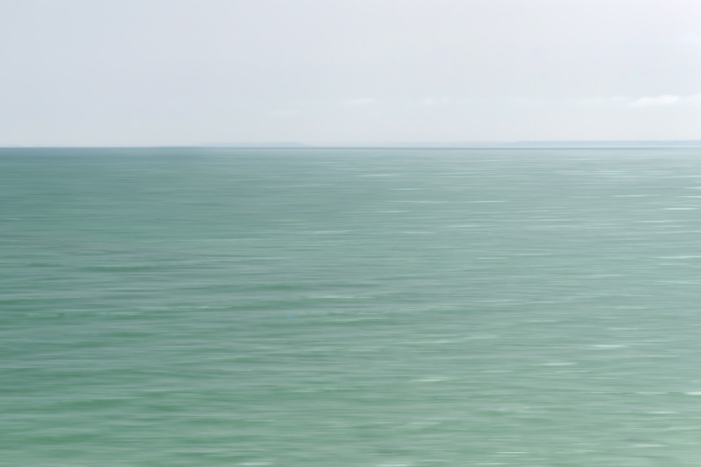 Abstract blurred sea, Dakhla, Morocco.