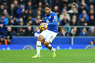 Ashley Williams of Everton in action. Premier league match, Everton v Sunderland at Goodison Park in Liverpool, Merseyside on Saturday 25th February 2017.<br /> pic by Chris Stading, Andrew Orchard sports photography.