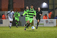 Forest Green Rovers Fabien Robert(26) runs forward during the FA Trophy 2nd round match between Chester FC and Forest Green Rovers at the Deva Stadium, Chester, United Kingdom on 14 January 2017. Photo by Shane Healey.