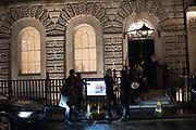 Scene outside an opening at the Thaddeus Ropak gallery, London. 28 November 2018