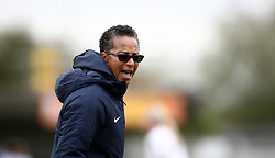 Brighton and Hove Albion WomenÕs manager Hope Powell during the Women's Super League match at Kingsmeadow, London.