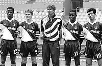 Fotball<br /> Arsene Wenger - Monaco<br /> Foto: Panoramic/Digitalsport<br /> NORWAY ONLY<br /> <br /> Youssouf Fofana / Laurent Viaud / Arsene Wenger ( entraineur coach ) / Victor Ikpeba / Vicenzo Scifo - As Monaco - 08.12.1993