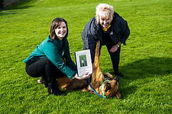 Pictured: Lindsay Fyffe, Edinburgh Dog and Cat Home joined Christine Grahame and Sasha today<br /> <br /> SNP MSP Christine Grahame was joined at Edinburgh Cat and Dog home by animal welfare organisations and eight-year-old Dutch Shepherd Sasha to highlight her members bill to curb irresponsible dog breeding and buying. <br /> Ger Harley   EEm 4 May 2018