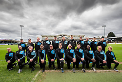 Britol Rovers Academy Staff Members pose for a team photo during the 2015/16 season - Mandatory byline: Rogan Thomson/JMP - 07/04/2016 - FOOTBALL - Memorial Stadium - Bristol, England - Bristol Rovers Academy Team Photos.