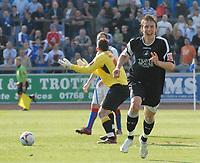 Swansea's Daryl Duffy celebrates his late winner.