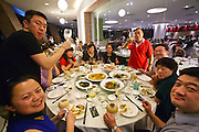 "Family dinner at the ""No Signboard Seafood"" restaurant at the Esplanade Theatres On The bay (Cultural Centre, dubbed ""the Durian"" because of its shape)."