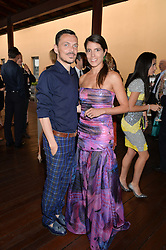 MATTHEW WILLIAMSON and MAFALDA BOREA at The Women for Women International & De Beers Summer Evening held at The Royal Opera House, Covent Garden, London on 23rd June 2014.