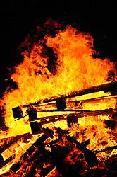 Bonfire and celebrations at the Hindu Holi festival; celebration of colours,
