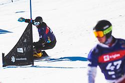 Mykhailo Kharuk (UKR) during parallel slalom FIS Snowboard Alpine World Championships 2021 on March 2nd 2021 on Rogla, Slovenia. Photo by Grega Valancic / Sportida