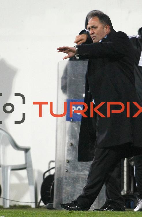 Gaziantepspor BSB's coach Bunyamin Sural during their Turkey Cup matchday 3 soccer match Besiktas between Gaziantepspor BSB at the Inonu stadium in Istanbul Turkey on Wednesday 11 January 2012. Photo by TURKPIX
