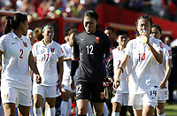 Fotball<br /> VM kvinner 2015<br /> Kina v Canada 0:1<br /> Foto: imago/Digitalsport<br /> NORWAY ONLY<br /> <br /> China s goalie Wang Fei (C) weeps as she leaves the field after a Group A match between China and Canada at the 2015 FIFA Women s World Cup finals in the Commonwealth Stadium in Edmonton, Canada, June 6, 2015. China lost 0-1