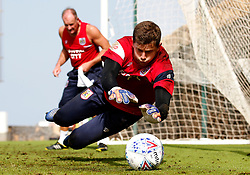 Frank Fielding of Bristol City trains with goalkeeping coach David Coles - Mandatory by-line: Matt McNulty/JMP - 18/07/2017 - FOOTBALL - Tenerife Top Training Centre - Costa Adeje, Tenerife - Pre-Season Training