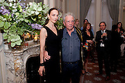 CATHERINE BAILEY; DAVID BAILEY, Dinner to mark 50 years with Vogue for David Bailey, hosted by Alexandra Shulman. Claridge's. London. 11 May 2010
